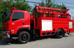 ผลงานที่ผ่านมา – รถดับเพลิงติดกระเช้ากู้ภัย